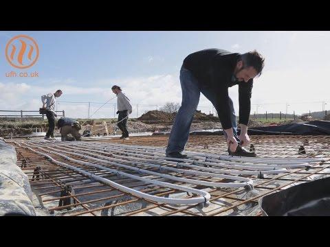 Underfloor heating insulation under slab installation by Continental Underfloor