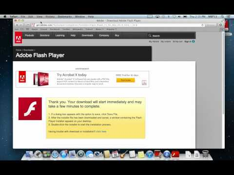Downloading and installing Flash Player - Mountain Lion 0S X 10.8 Tutorial - Diversified Computers