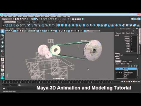 Maya 3D Animation and Modeling Part017 Animate the belt