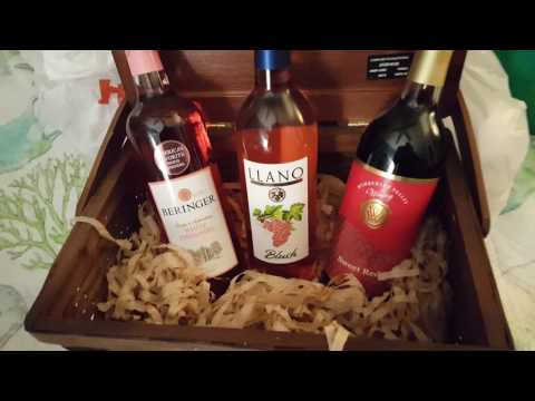 Quick Wine basket Gift Idea