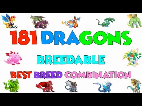 DRAGON CITY SPECIAL VIDEO | ALL 181 Breedable Dragons and Best Breeding Combination