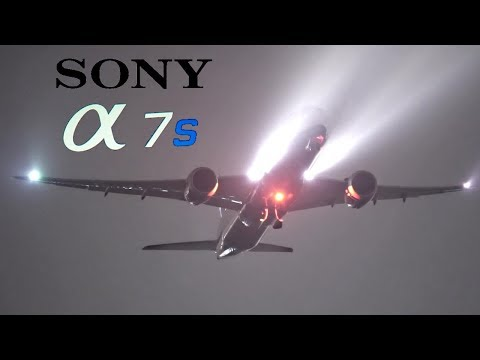 EPIC NIGHT TAKEOFFS with fog at LONDON HEATHROW Airport - Sony a7s