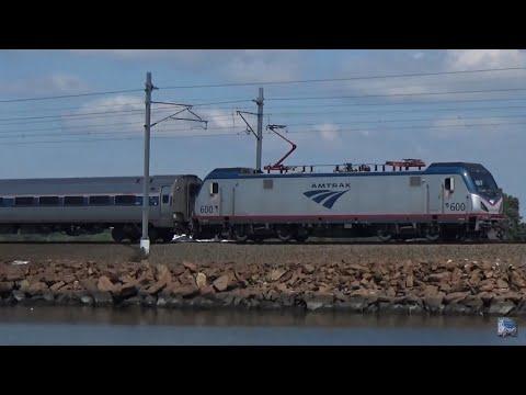 Amtrak Trains at the Swingbridge - Mystic, CT
