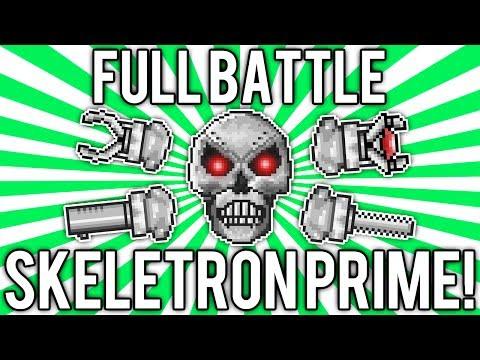 Terraria 1.2: How to Defeat Skeletron Prime! (Full Battle Solo) [demize]