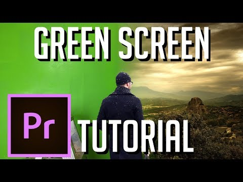 How to Filter Green Screen Background (Color Key) | Adobe Premiere 2019 Tutorial