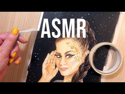 ASMR Tape Peeling - No Talking || Peeling Off Masking Tape After Painting
