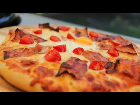 AussieGriller Eats Australia - Aussie Egg and Bacon Pizza Recipe
