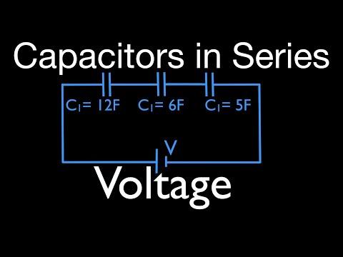 Capacitors (6 of 11) in Series, Calculating Voltage Drop