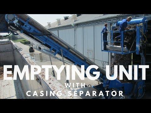 Mushroom Machinery - Verified Emptying Unit with Casing Separator