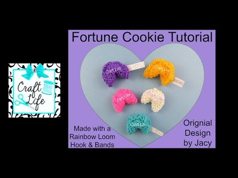 Craft Life 3D Fortune Cookie Tutorial using a Rainbow Loom Hook & Bands