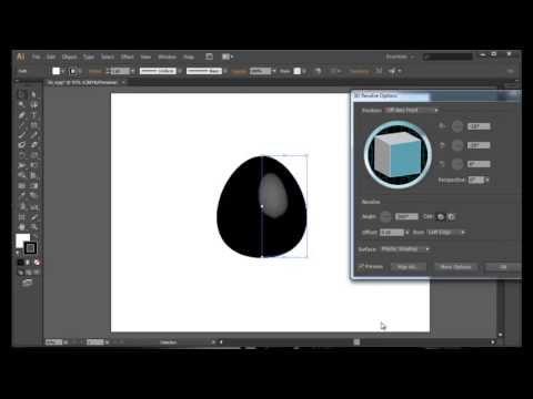 Create 3D Objects in Illustrator- 3D Egg in Adobe Illustrator