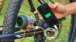 How To Charge Phone With Bicycle - FREE ENERGY!
