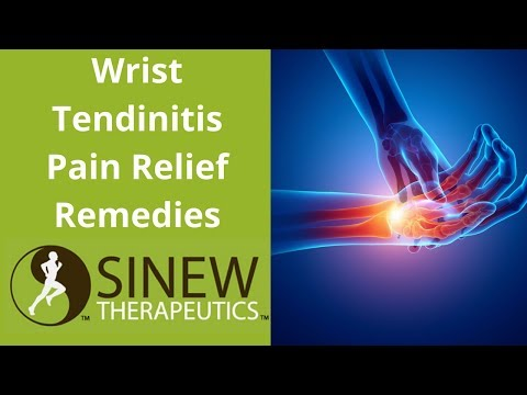 Wrist Tendinitis Pain Relief Remedies