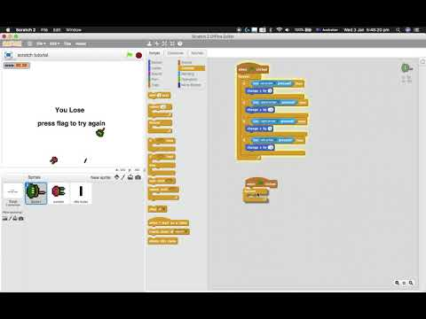 Scratch tutorials: how to make a shooter game part 1