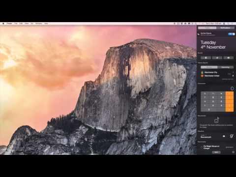 Customise OS X Yosemite's Notification Center