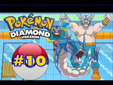 Pokemon Diamond - Part 10 - Pastoria City Gym Leader Crasher Wake