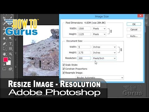 How to Change Image Size and Resolution in Adobe Photoshop - CS5 CS6 CC 2018 Tutorial