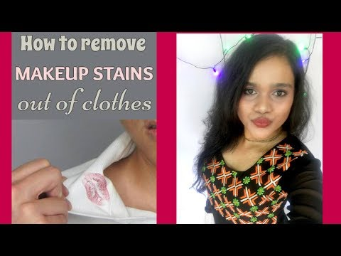 Remove makeup stains from clothes without washing