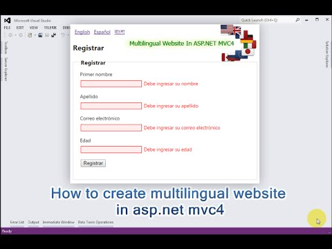 How to create multilingual website in asp.net mvc4