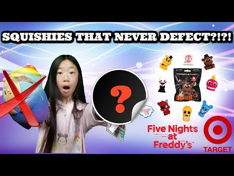 SQUISHIES THAT DO NOT DEFECT?!?! PLUS NEW FIVE NIGHTS AT FREDDY'S SQUISHIES TARGET VLOG