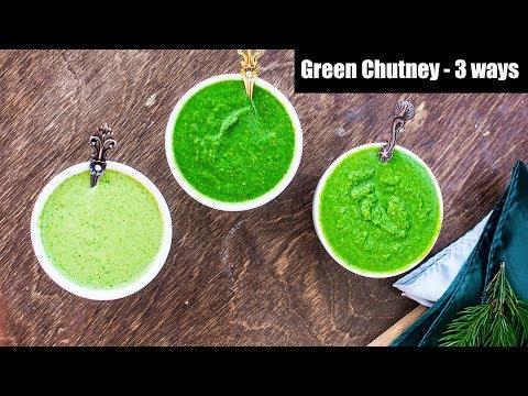 3 Ways to Make Green Coriander Chutney | How To Make Hare Dhaniye Ki Chutney | Hari Chutney Recipe