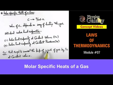 7. Physics | Laws of Thermodynamics | Molar Specific Heats of a Gas | by Ashish Arora