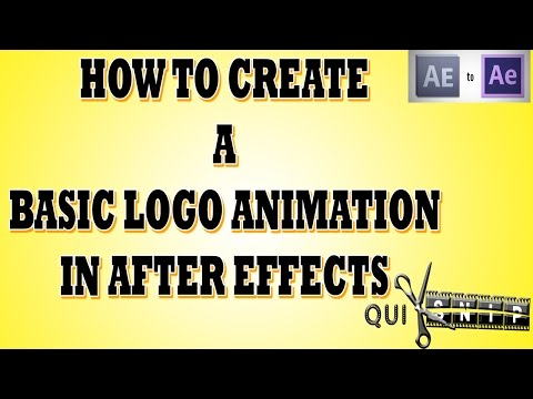 [TUTORIAL] How to Create a Basic Logo Animation in AFTER EFFECTS via Quiksnip