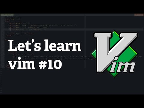 Screencast #30: Let's learn vim #10 - Change the Color Scheme
