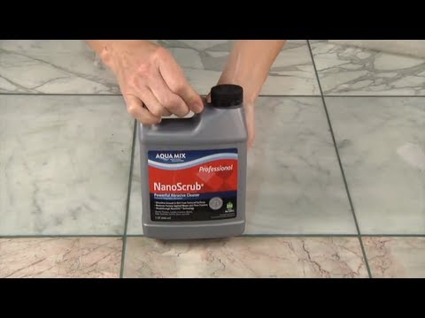 Remove Grout Haze from Polished Marble with Aqua Mix NanoScrub