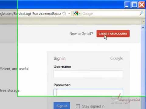 create new gmail account (Hindi / Urdu)