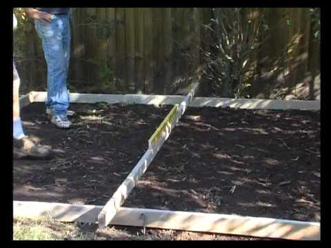 Garden Sheds - Laying a Concrete Slab