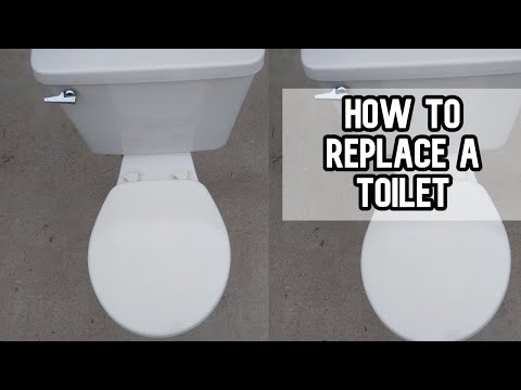 How to replace and install a toilet DIY video