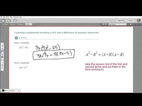 Factoring a polynomial involving a GCF and a difference of squares - univariate