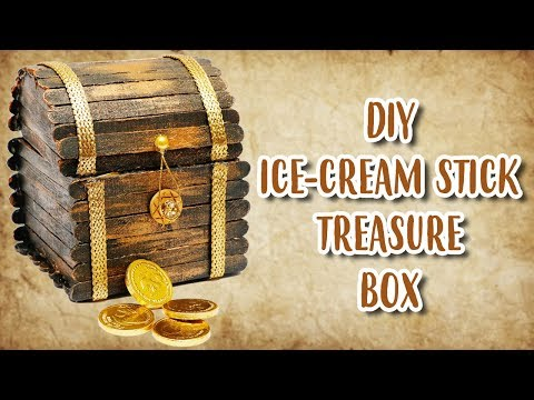 DIY ICE-CREAM STICKS TREASURE BOX | JEWELLERY BOX FROM ICE-CREAM STICKS | Crafty Zilla