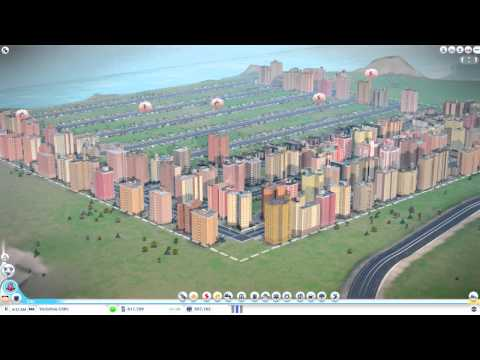 Simcity 5 - 1.3 million+ Population, No water, power, or services! 0% taxes!