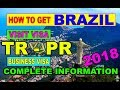 How To Apply Brazil Visa [Visit Visa][Business Visa][Citizenship] Urdu / Hindi 2018 BY PREMIER VISA