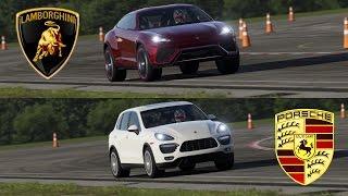 Lamborghini Urus vs Porsche Cayenne Turbo - Top Gear Track!