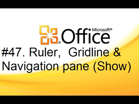 Lesson #47  Ruler, Navigation Pane & Gridline  [Show] (MS Office Word 2010 Tutorial in Hindi)