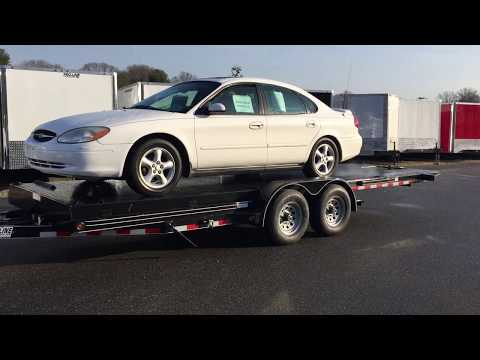 How to Load a Car onto a Hydraulic Tilt Bed Trailer | Pro-Line Trailers