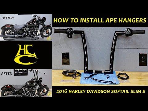 How to Install Ape Hangers Handlebars Harley Davidson Softail Slim S