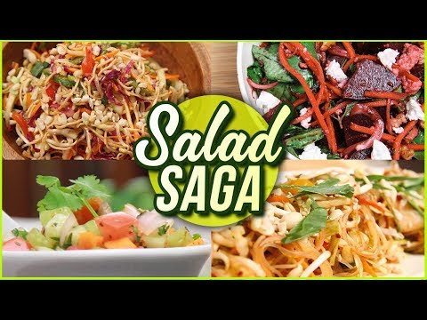Salad Recipes for Weightloss - 5 BEST Salad Recipes - Vegetable & Fruit Salads by Ruchi