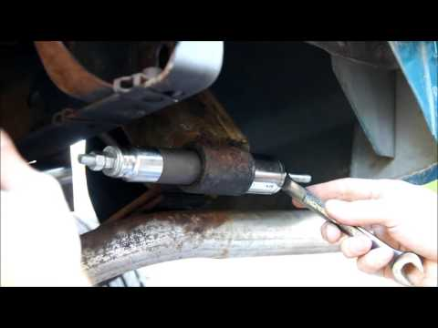 How to press in Leaf spring bushing in 92 Ford Ranger