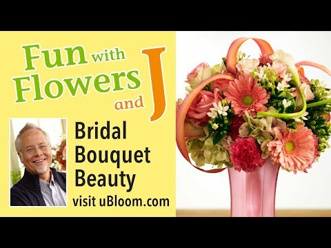 How to arrange flowers: Wedding Bouquet with Hydrangea, Gerbera Daisies, Callas &Roses.
