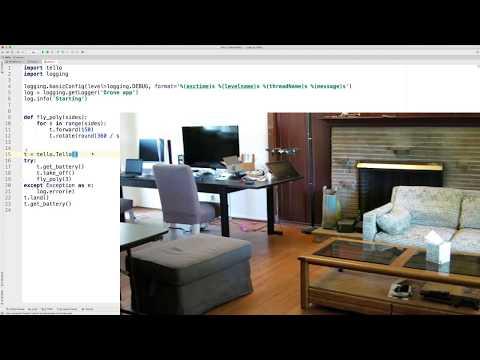 Python Code Flies Tello Drone Around Polygon