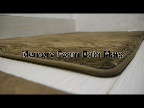 Memory Foam Bath Mat Bathroom Rugs in Large Contemporary Modern Brown Colored Floor Mats Rug Sets
