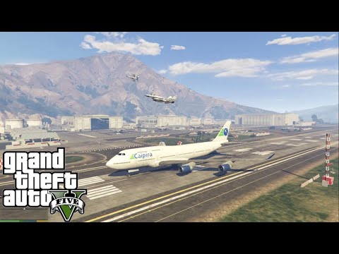 GTA V Mods : How to land a Jumbo Jet in Military base without Dying!?