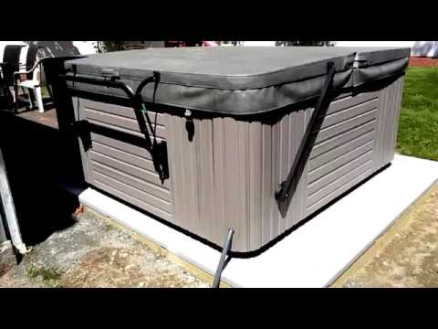 How to build a hot tub base