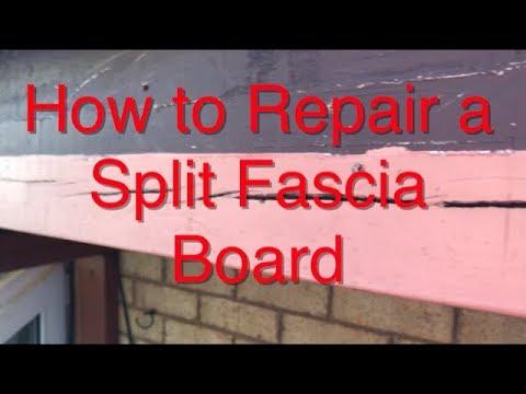 How to Repair a Split Fascia Board DIY Easy and Simple