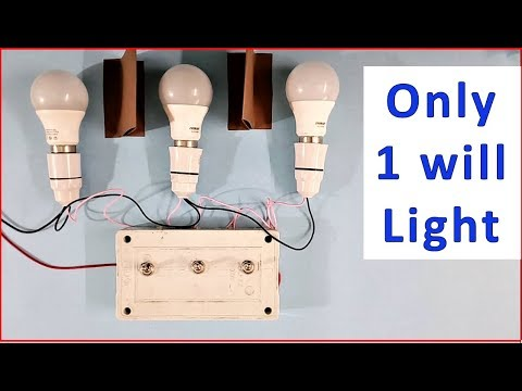 3 bulbs 3 switches, only 1 bulb can be ON at a time