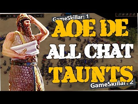 Age of Empires Definitive Edition - All Taunts (English, Spanish, French & German)